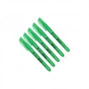 Marca Texto Verde Fluorescente chanfrado BRW 12un