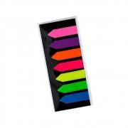 Marcador de Página Adesivo 12x44mm Neon Seta 7 Cores BRW
