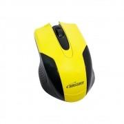 Mouse Óptico USB 800 Dpi Preto/Amarelo 0378 Bright 01un