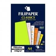 Papel Amarelo Filicolor Lumi A4 180g/m² Filipaper 20Fls
