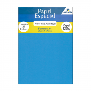 Papel Color Plus Azul Royal A4 210x297mm 120g Romitec 25Fls