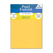 Papel Color Plus Gema A4 210x297mm 120g Romitec 25Fls