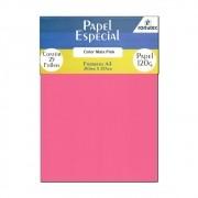 Papel Color Plus Pink A4 210x297mm 120g Romitec 25Fls