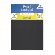 Papel Color Plus Preto A4 210x297mm 120g Romitec 25Fls