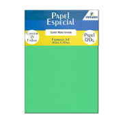 Papel Color Plus Verde A4 210x297mm 120g Romitec 25Fls