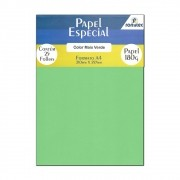 Papel Color Plus Verde A4 210x297mm 180g Romitec 25Fls