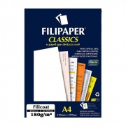 Papel Filicoat Branco A4 210x297mm 180g/m² Filipaper 50Fls