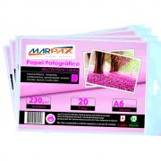Papel Fotográfico 10x15 Brilhante Glossy 230g Marpax 1500Fls