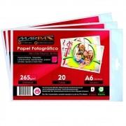 Papel Fotográfico 10x15 Brilhante Glossy 260g Marpax 100 Fls