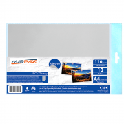 Papel Fotográfico Adesivo A4 RC 110g Glossy 210x297mm Marpax 10Fls