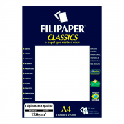 Papel Opaline Branco A4 210x297mm 120g Filipaper 30fls