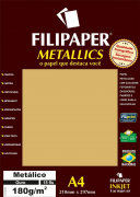 Papel Ouro Metálico A4 210x297mm 180g/m² Filipaper 15 folhas