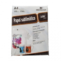Papel para sublimação transfer A4 210X297mm 100G Mecolour 100fls