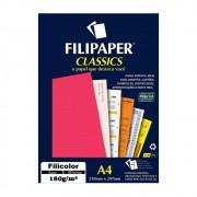 Papel Rosa Filicolor Lumi A4 210x297mm 180g Filipaper 20Fls