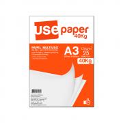 Papel Sulfite A3 120g/m² para impressão 40kg Branco 25 fls