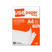 Papel Sulfite A4 120g/m² para impressão 40kg Branco 50 fls