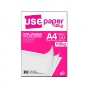 Papel Sulfite A4 180g/m² para impressão 60kg Branco 50 fls