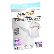 Papel Transfer Jato de tinta A4 Tecidos Claros 150g/m² Marpax 10Fls