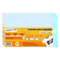 Papel Transfer Jato de tinta A4 Tecidos Claros 150g Marpax 100Fls