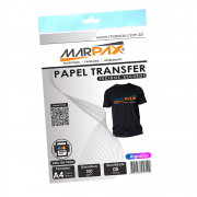 Papel Transfer Jato de tinta A4 Tecidos Escuros 300g/m² Marpax 05 Fls