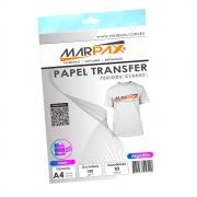 Papel Transfer Laser A4 Tecidos Claros 150g/m² Marpax 10fls