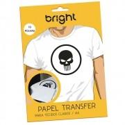 Papel Transfer para algodão A4 Tecidos Claros Bright 10Fls
