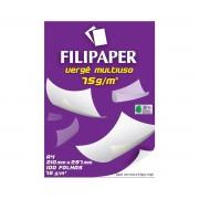 Papel Vergê Branco A4 210x297mm 75g/m² Filipaper 100 Folhas