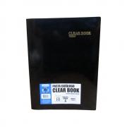 Pasta Catálogo A4 Clear Book Preta + 10 sacos Plastpark 01un