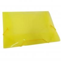 Pasta Plástica Escolar Amarelo Ofício Fina PP ACP 10un