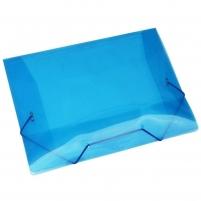 Pasta Plástica Escolar Azul Ofício Fina PP ACP 10un