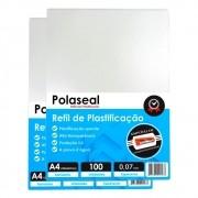 Polaseal A4 200un Plástico para  Plastificação 0,07 175mic