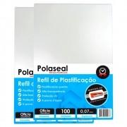 Polaseal Ofício 200un Plástico Plastificação 0,07 175mic