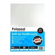 Polaseal Plástico para Plastificação A3 303x426x0,07mm 20un