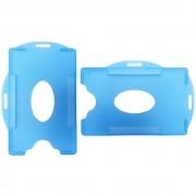 Porta Crachá Azul Royal Translúcido Universal 100un