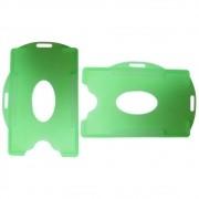 Porta Crachá Verde Limão Translúcido Universal Marpax 100un