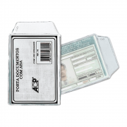 Porta documento PVC RG e Título 75x105MM ACP 100un