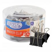 Prendedor de papel Binder Clip 15mm BRW caixa com 60un