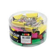 Prendedor de papel Binder Clip 32mm Neon BRW 24un