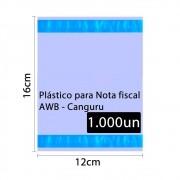 Saco Canguru Envelope Plástico Nota Fiscal 12x16cm 1000un 2F