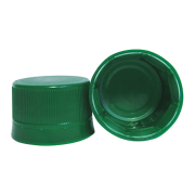 Tampa Plástica com lacre p/ garrafa pet 28mm Verde 1000un