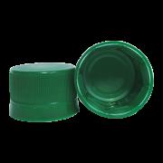 Tampa Plástica com lacre p/ garrafa pet 28mm Verde 100un