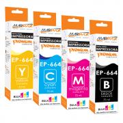 Tinta de impressora Epson 664 compatível Premium CMYK 4x70ml