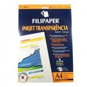 Transparência Jato de tinta sem Tarja Filipaper 10 folhas