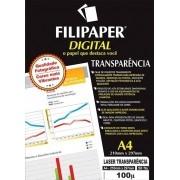 Transparência Laser com Tarja Filipaper PRO 50 folhas