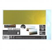 Vinil Adesivo A4 110g Dourado Brilho impermeável Marpax 10 folhas