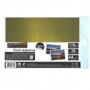 Vinil Adesivo A4 110g Dourado Escovado impermeável Marpax 10 folhas