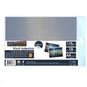 Vinil Adesivo A4 110g Prata Escovado impermeável Marpax 10 folhas