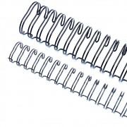 Wire-o para Encadernação 2x1 A4 Preto 7/8 para 180 fls 50un