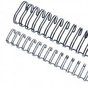 Wire-o para Encadernação 3x1 A4 Preto 3/8 para 60 fls 100un