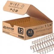 Wire-o para Encadernação A5 1 1/4 2x1 para 270fls Bronze 12un